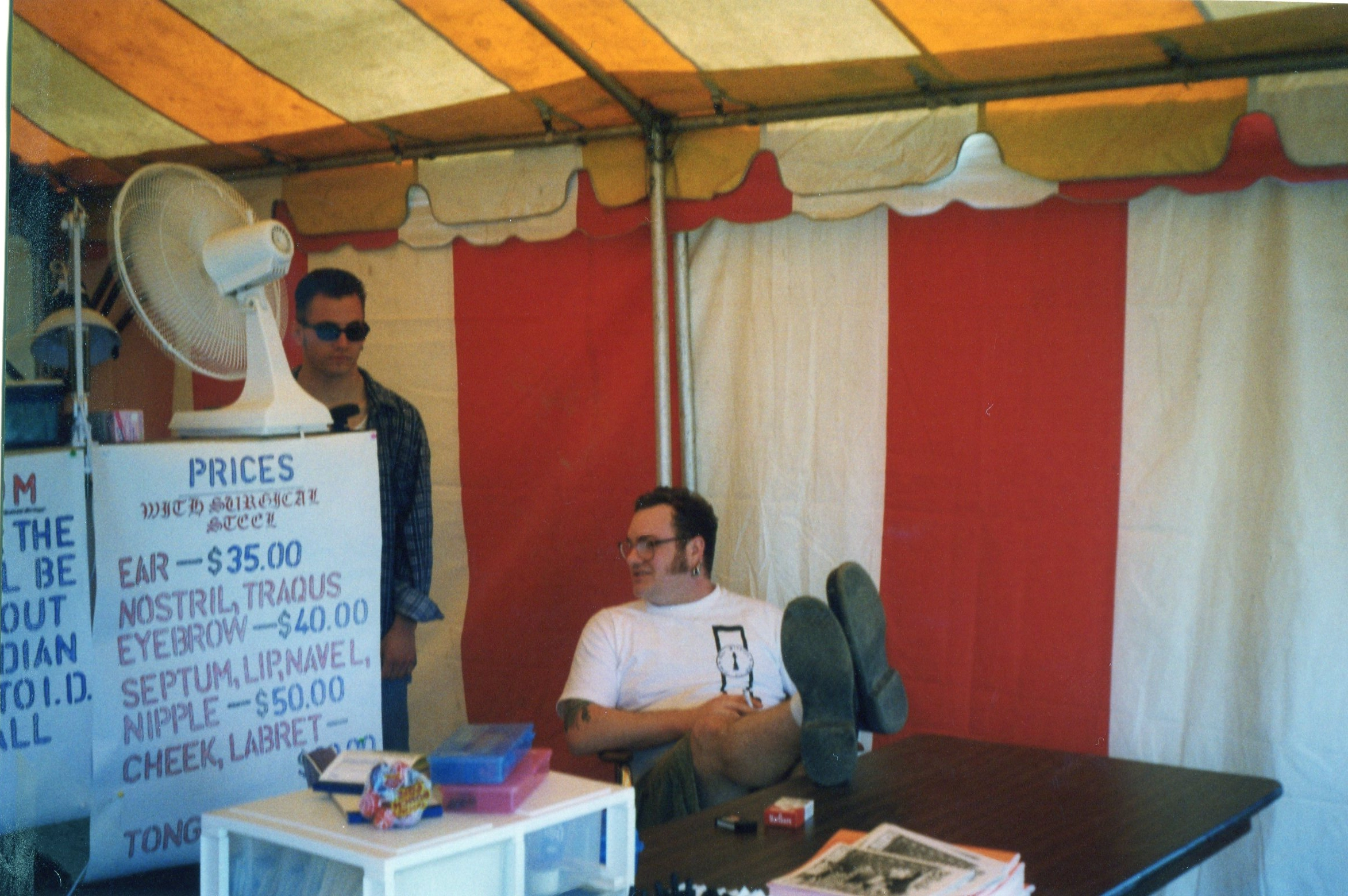 Lanny and DaVo at the 1997 DotFest