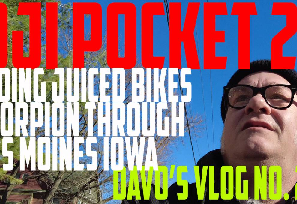 Testing DJI Pocket 2  - Juiced Scorpion EBike Ride in Des Moines  DaVo's Vlog 26 -