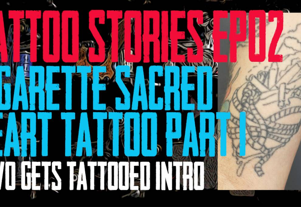 Cigarette Sacred Heart Tattoo - DaVo gets a tattoo finished that he and Jack Lowe of Skin Kitchen Tattoo Started 20 years ago. Also they talk a little about the time period and share a few stories about Slipknot - Tattoo Stories EP02 - https://youtu.be/1CoURitYHsI