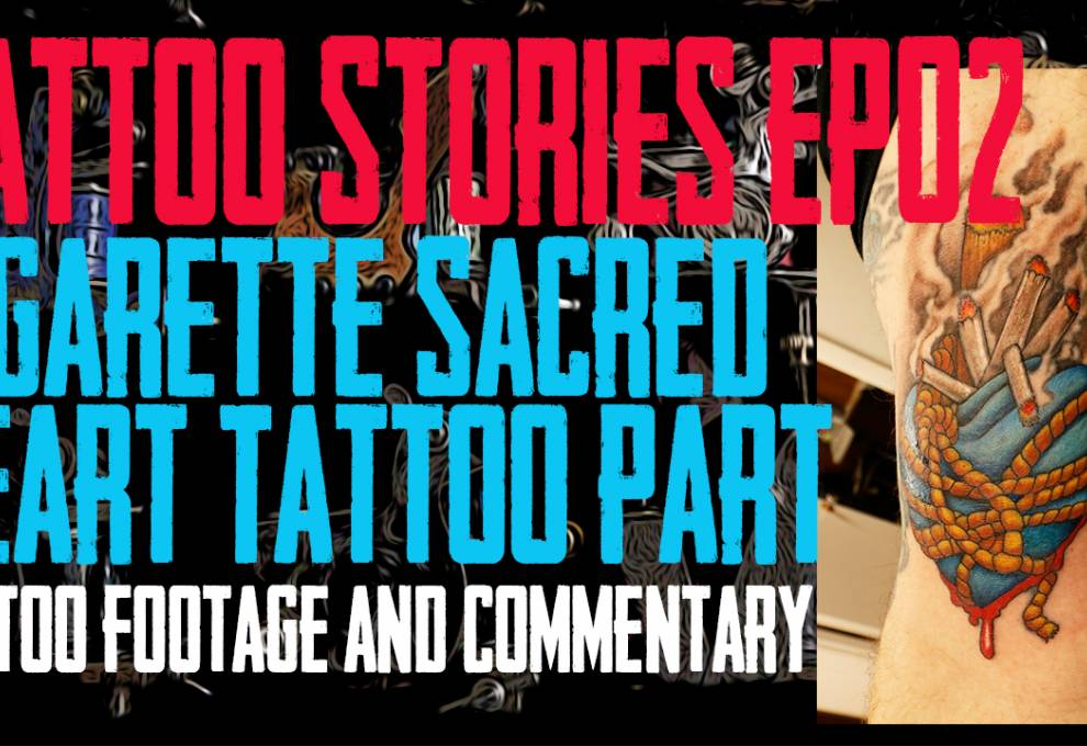 DaVo Gets Tattooed - Footage and Commentary of Cigarette Sacred Heart Tattoo Tattoo Stories EP02 P02 - https://youtu.be/MM3c2jBNf6U